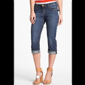 KUT FROM THE CLOTH crop denim with sewn cuff